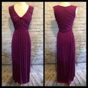 Rachel Pally Ruched Jersey Maxi Dress, S